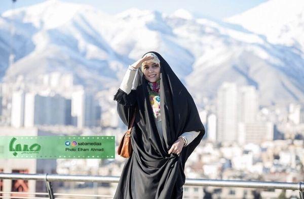مژده لواسانی در ارتفاعات تهران + عکس
