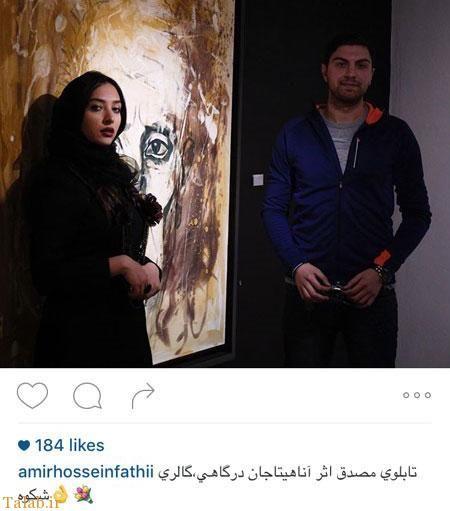 پسر بازیگر آقای کارگردان در نمایشگاه همسر اشکان خطیبی+عکس