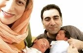 خاطره بازی فلامک جنیدی از نوزادی دوقلوهایش + عکس