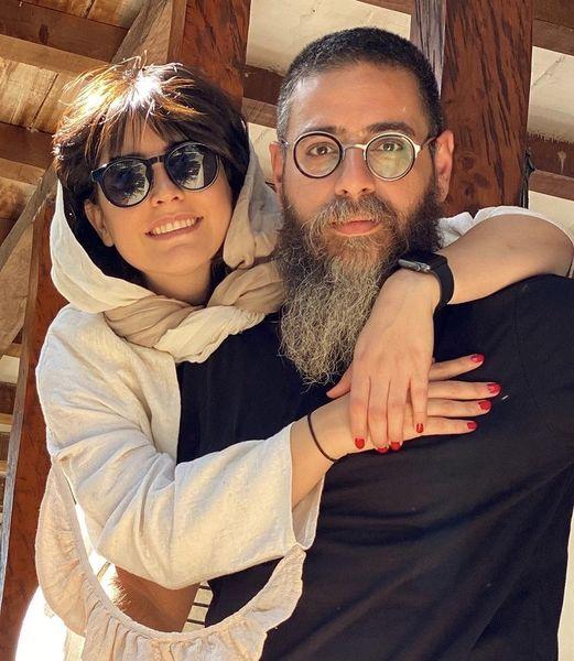 شبنم قربانی در کنار همسرش + عکس