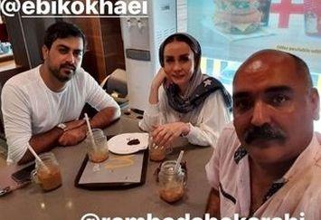 حدیث فولادوند و همسرش در رستوران معروف بین المللی+عکس