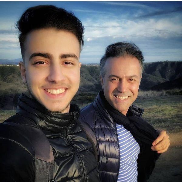 شباهت دانیال حکیمی و پسرش + عکس