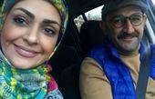 اوس موسی پایتخت به همراه همسرش در ماشین+عکس