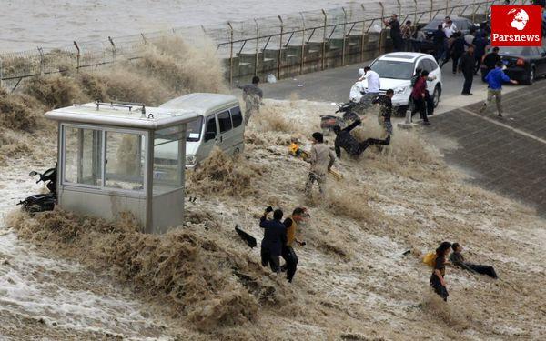 عکس/ مواجهه با سیل در چین