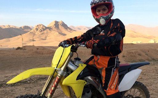 گفتوگو با بهناز شفیعی، دختر موتورسوار ایرانی+ تصاوير