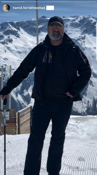 حمید فرخ نژاد در حال اسکی + عکس