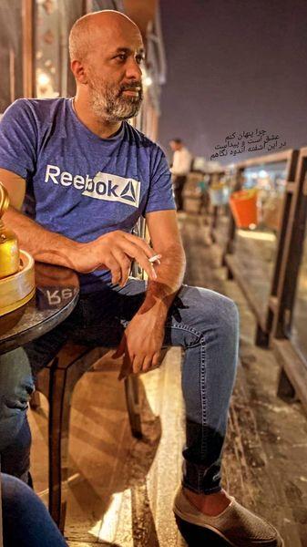 ژست سیگاری طور پیمان احمدی نیا + عکس