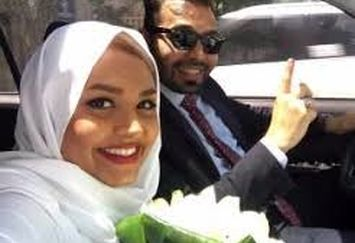 اولین ماهگرد زندگی خانم مجری و همسرش/عکس