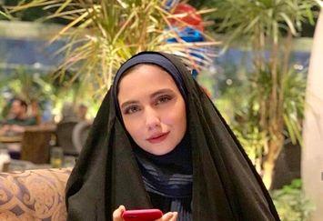 عکس ملیح خانم بازیگر با چادر