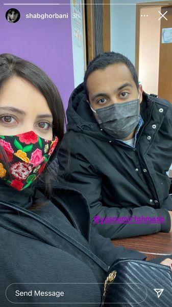 شبنم قربانی وو همسرش + عکس