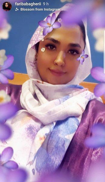 تیپ بنفش فریبا باقری!+عکس