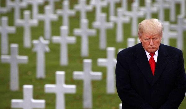 اولین حضور ترامپ در انظار عمومی + تصاویر