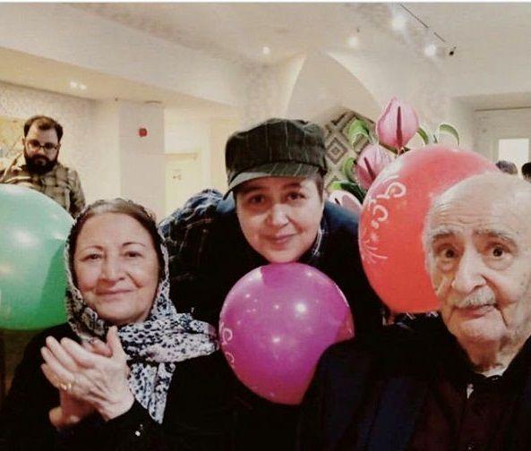 تیپ متفاوت شهره لرستانی در تولد کنار مادر و پدرش+عکس