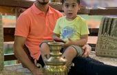عکس علی علیپور و پسرش در گردش