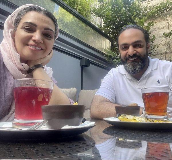 کافه رفتن الهام پاوه نژاد با دوستش + عکس