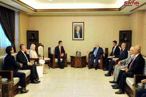 دیدار وزیران خارجه سوریه و چک در دمشق