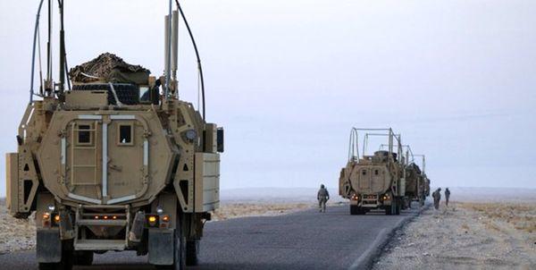 لحظه هدف قرار گرفتن کامیون ارتش آمریکا+ فیلم
