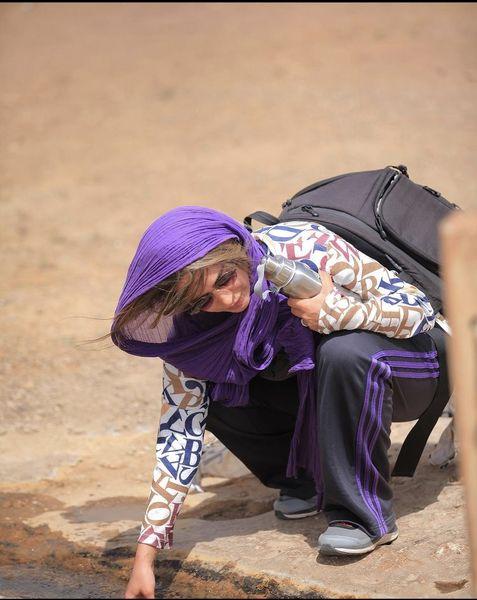 سمانه پاکدل با تیپ کوهنوردی + عکس