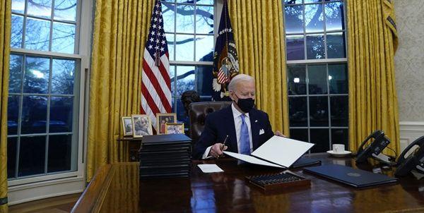 بایدن اولین دستورات اجرایی خود را امضا کرد
