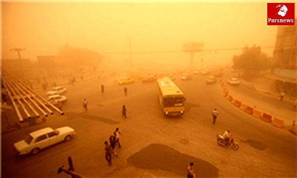 گرد وغبار درمناطق جنوبی وغربی خوزستان