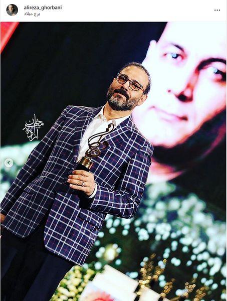 تشکر خواننده برگزیده جشن حافظ و دلتنگی برای علی معلم+عکس