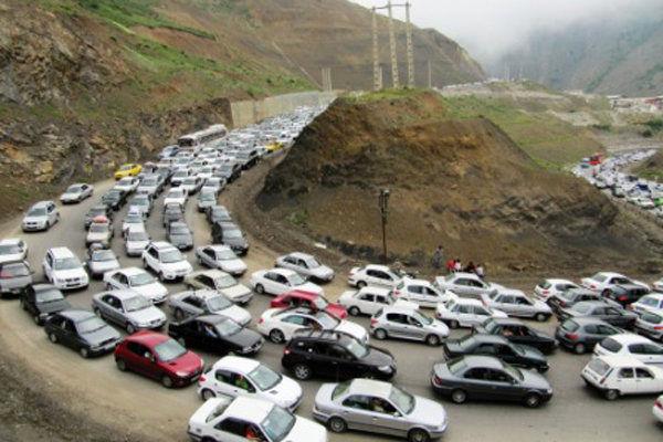 ترافیک سنگین در مسیر کرج-چالوس