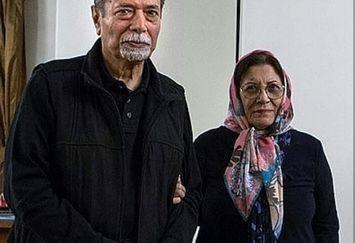 علی نصیریان و همسرش+عکس