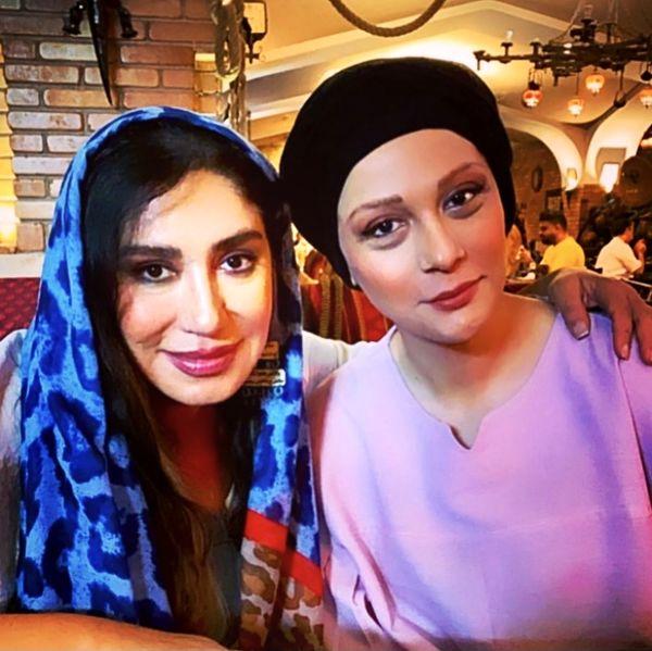 نسیم ادبی و مارال فرحاد در آغوش هم + عکس