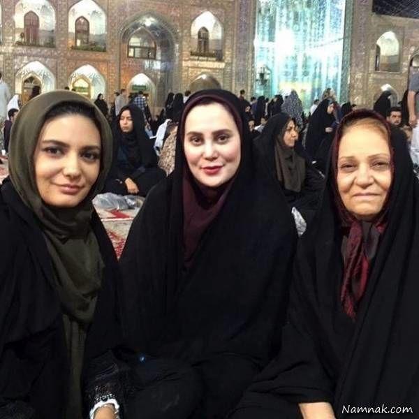 لیندا کیانی و آرام جعفری در مشهد مقدس + عکس