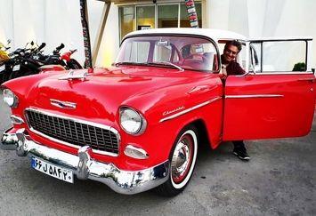 سام نوری در ماشین عتیقه+عکس
