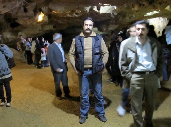 بازیگر مشهور در غار علیصدر همدان + عکس