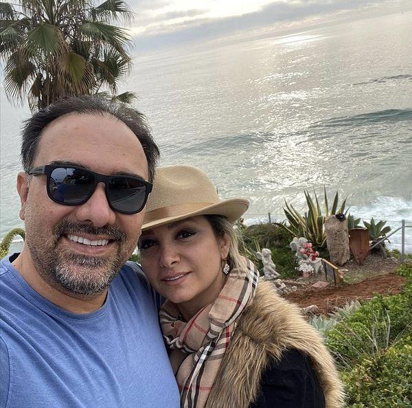 برزو ارجمند و و همسرش در ساحلی زیبا + عکس