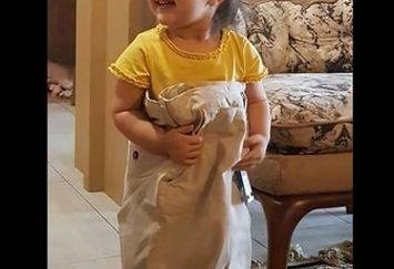 دختر بانمک محسن کیایی با لباس عجیبش!+عکس