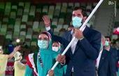 رژه کاروان ایران در المپیک ۲۰۲۰ + فیلم