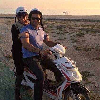 موتورسواری آزاده نامداری +عکس