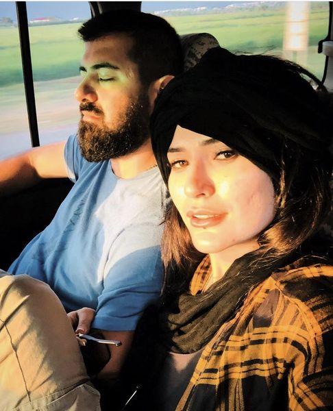 شیوا طاهری و همسرش در سفر + عکس