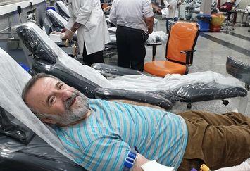 مهران رجبی دو لیتر خون اهدا کرد+عکس