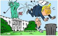 ترامپ در سطل آشغال/ کاریکاتور
