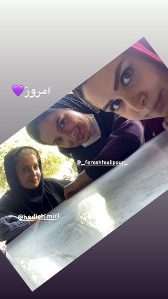 امروز نجمه جودکی با دوستانش + عکس