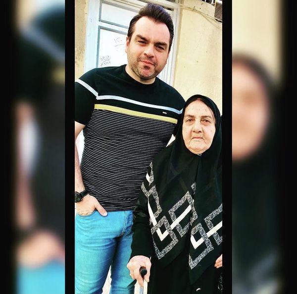 آقای بازیگر در کنار مادرش + عکس