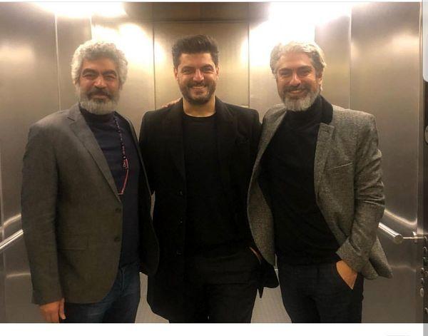 عکس آسانسوری سه بازیگر پرطرفدار و خوشتیپ