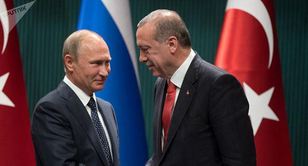 تماس تلفنی اردوغان و پوتین درباره سوریه