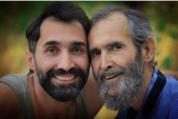 شباهت هادی کاظمی به پدرش + عکس