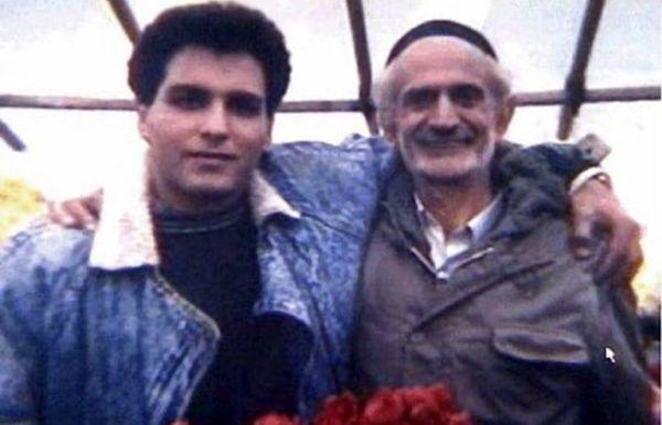 جوانی مهران مدیری در کنار بازیگر مرحوم + عکس
