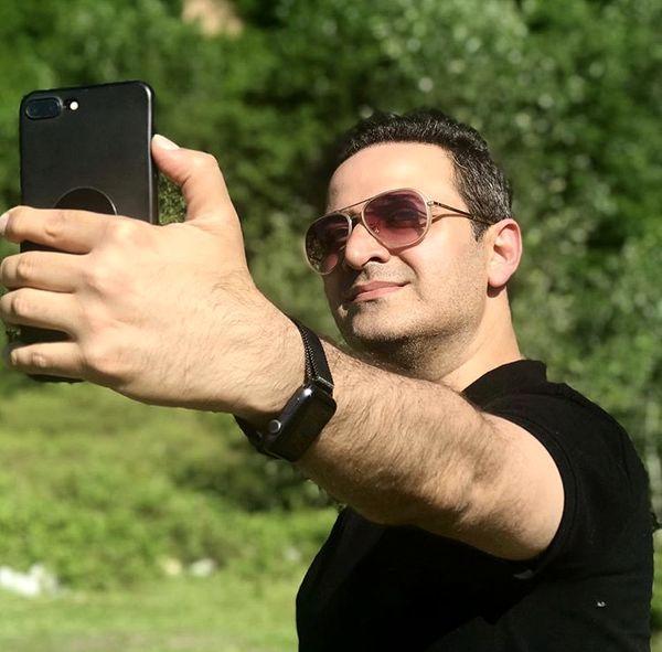 سلفی گرفتن سعید شیخ زاده در طبیعت + عکس