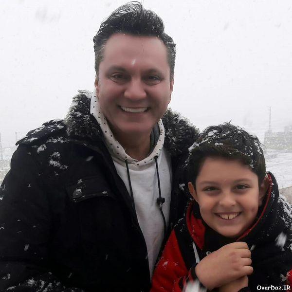 همسر سابق الهام چرخنده و پسرش + عکس