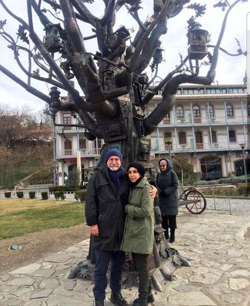 آتیلا پسیانی و همسرش در خارج از کشور+عکس