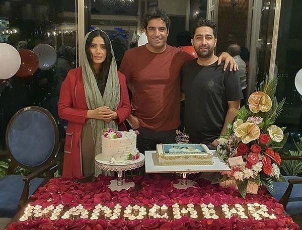 علی سخنگو و همسرش درتولد منوچهر هادی + عکس