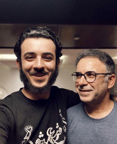 علی شادمان و پدرش + عکس