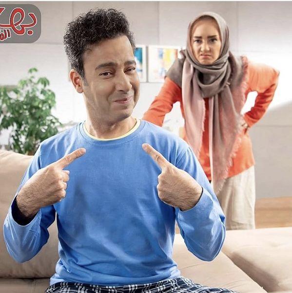 زوج دوستداشتنی معروف در یک تبلیغ تلویزیونی + عکس